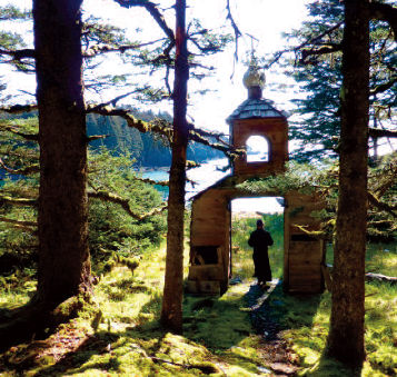 Orthodox chapel on Spruce Island, Alaska
